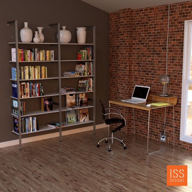 shelving in architect 39 s home office modern storage and organization