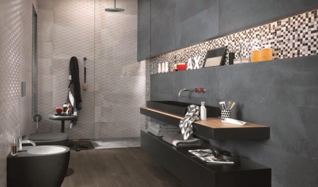 carrelage salle de bain moderne carrelage sol et mur other metro par cascade salles de. Black Bedroom Furniture Sets. Home Design Ideas