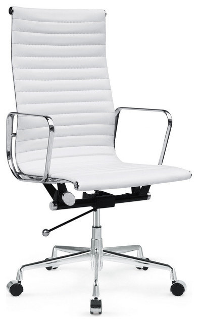togo high back leather office chair white modern office chairs
