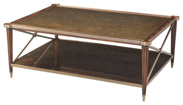 Theodore Alexander Eglomise Empire Reflections Cocktail Table Traditional Coffee Tables By
