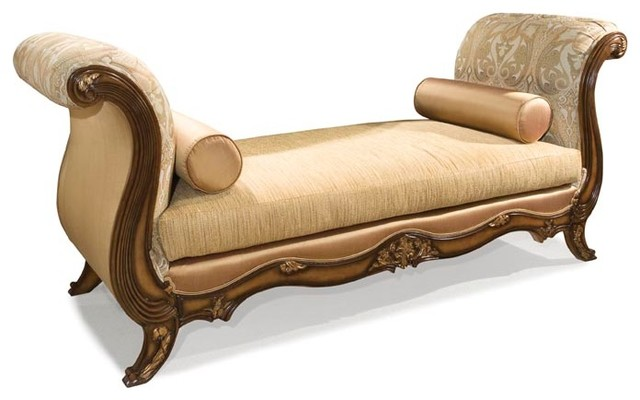 Gemma Oversized Bench Traditional Indoor Chaise Lounge
