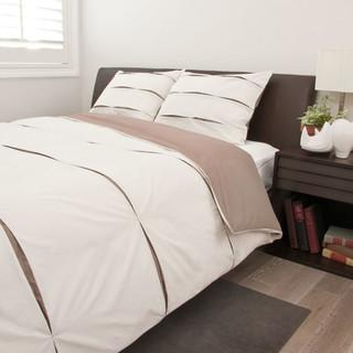 The Vista Beige Duvet Set - Modern - Duvet Covers And Duvet Sets - San Francisco - by Crane & Canopy