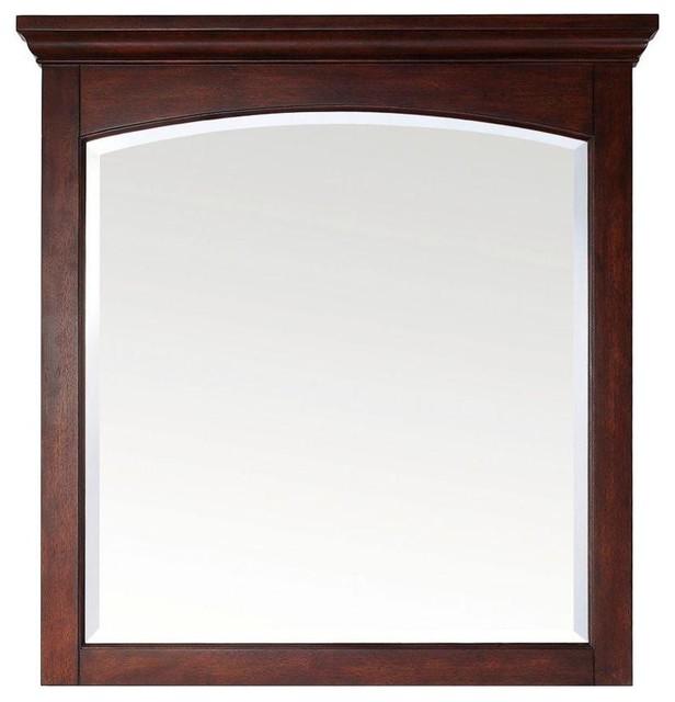 Mahogany Bathroom Mirror: Pegasus Vermont 36 In. X 38 In. Framed Wall Mirror In