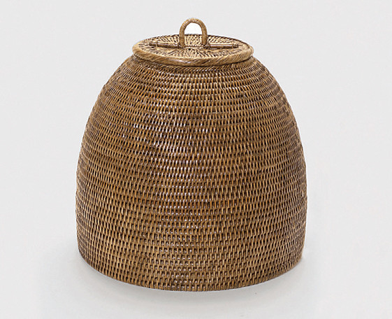 Beehive basket with lid contemporary baskets by origin crafts - Wicker beehive basket ...
