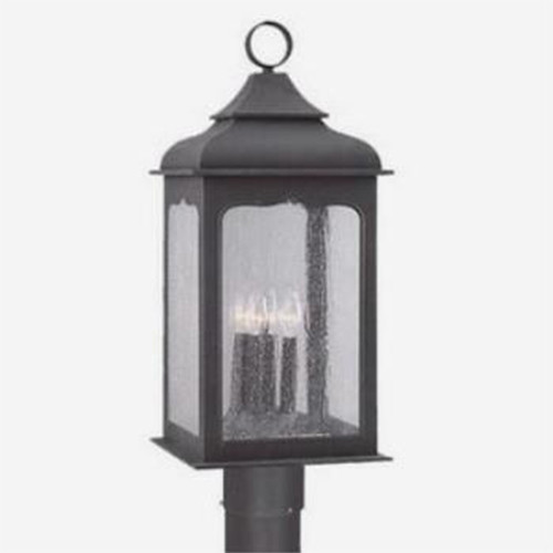 Henry street colonial iron four light large outdoor post for Outdoor colonial lighting