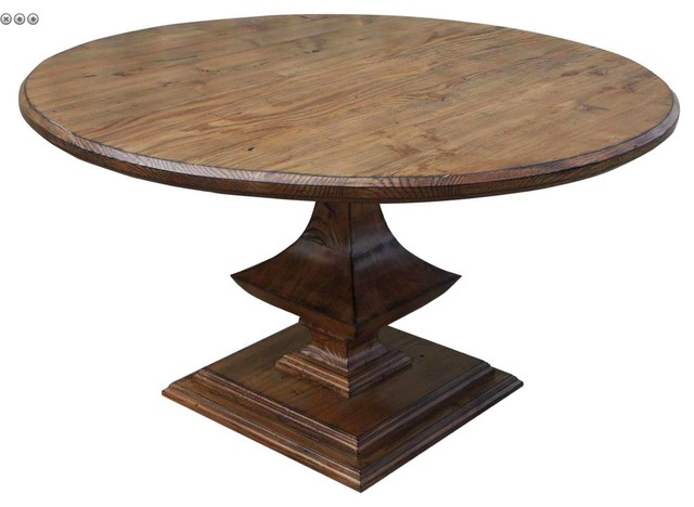 Algonquin Round Trestle Dining Table Mediterranean