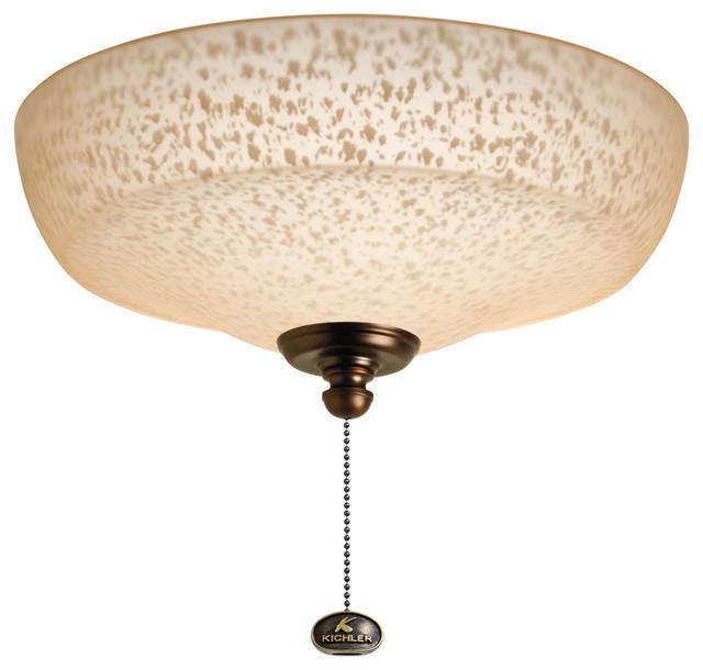 Ceiling Fan With Light Fixture: Kichler 380109OBB Universal Light Fixture