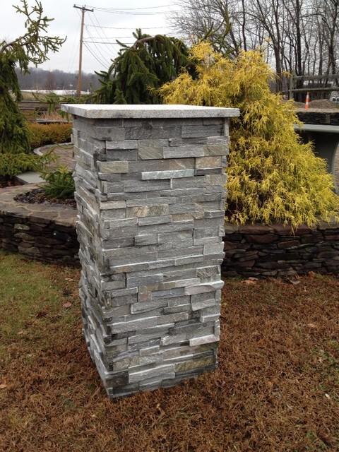 Building Stone Pillars : Stone pillars columns piers contemporary
