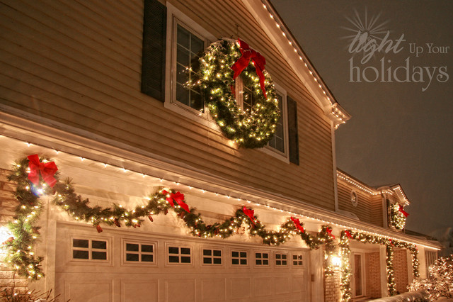 Light up your holidays christmas decor traditional exterior chicago by light up your for Christmas lights for house exterior