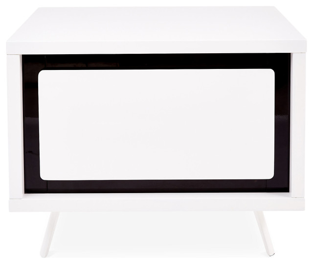 hal low nightstand white black modern nightstands and