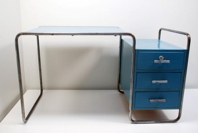 schreibtisch 39 b65 39 marcel breuer 1929 modern schreibtische aufs tze other metro von. Black Bedroom Furniture Sets. Home Design Ideas