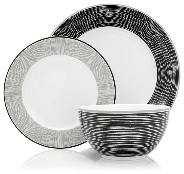 12 Piece Bude Dinner Set Modern Dinnerware Sets By Next