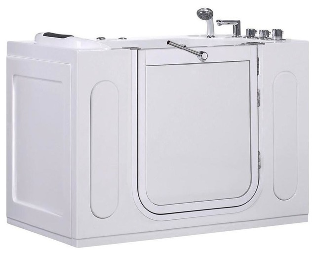 Aston Jetted Bathtubs WT622 55 In X 30 In Walk In Jetted Whirlpool Bath Tub