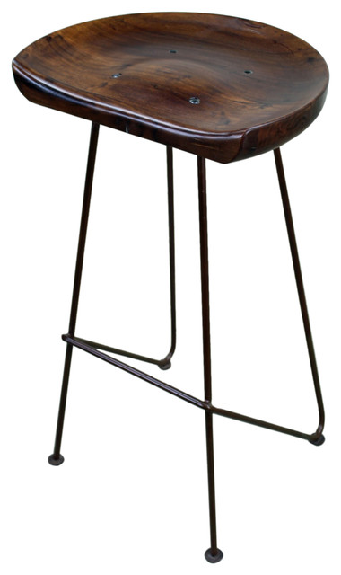 hardwood and iron rustic bar stool rustic bar stools and counter stools. Black Bedroom Furniture Sets. Home Design Ideas