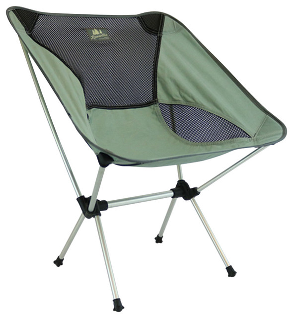 Kawartha Portable Lawn Chair Gray Contemporary Outdoor Folding Chairs