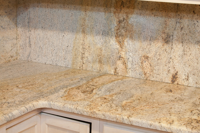 Leathered Kashmir Gold Granite Eclectic Kitchen Countertops Dc Metro By Granite Grannies