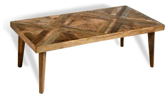 Interlude Vintage Patchwork Cocktail Table Southwestern Coffee Tables