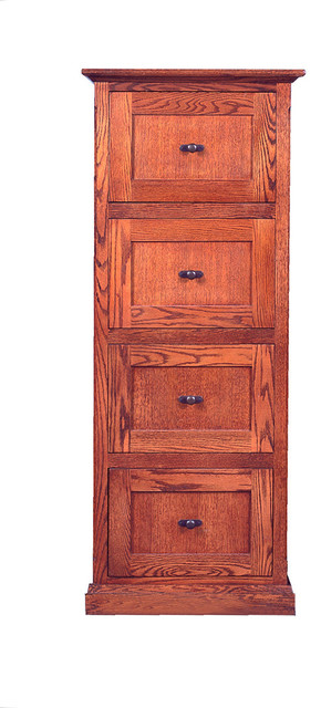 Mission 4-Drawer File Cabinet - Filing Cabinets - by Oak Arizona