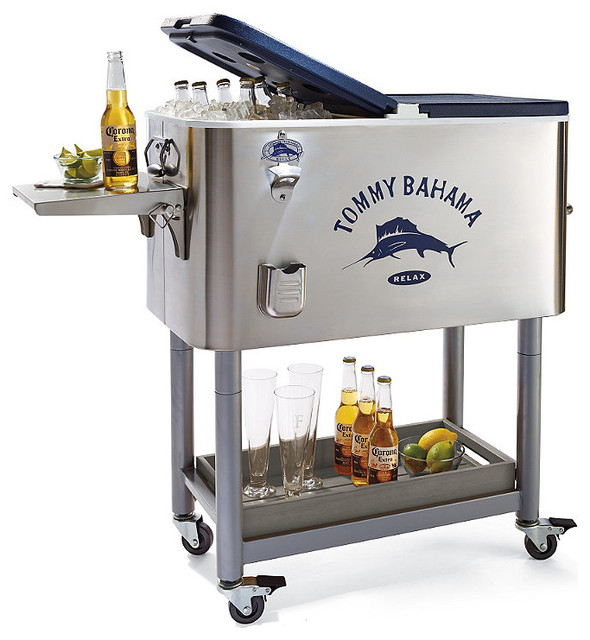 Tommy Bahama Rolling Party Cooler - Traditional - Coolers And Ice Chests - by FRONTGATE