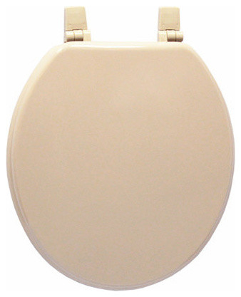 trimmer wood toilet seat taupe traditional toilet seats by american trading house inc. Black Bedroom Furniture Sets. Home Design Ideas