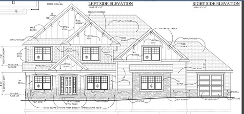 House Plans front elevation view
