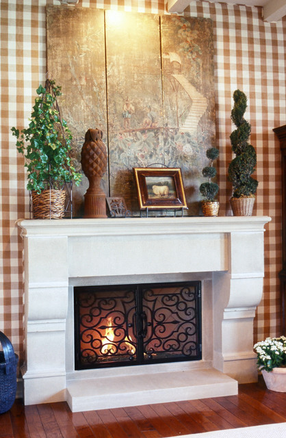 Traditional Fire Place Mantels Traditional Family Room Orange County