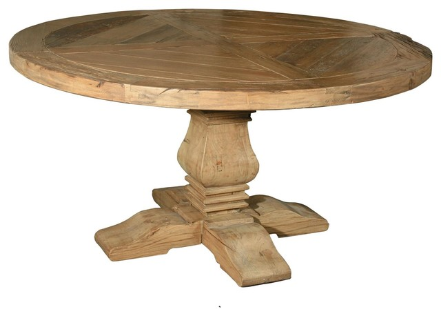 Pedestal 60 Quot Round Dining Table Traditional Dining
