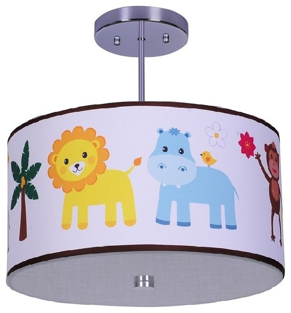 Jungle animals ceiling light suspension et plafonnier enfant toronto par firefly kids lighting for Eclairage chambre bebe