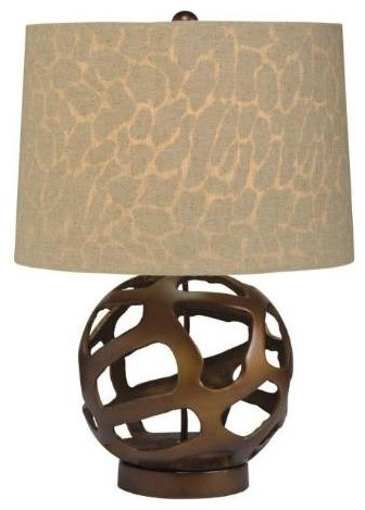 Kichler 70871 Pending Family Assignment 1 Light A19 Table Lamp In Bronze 70871 Modern Table