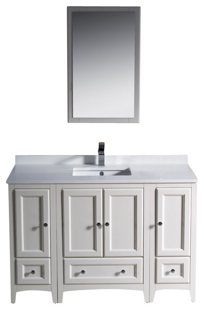 48 Inch Single Sink Bathroom Vanity In Antique White Antique White Traditi