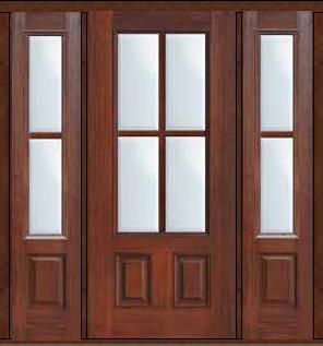 Prehung patio sidelights door 80 fiberglass 3 4 lite 4 for Patio door with sidelights