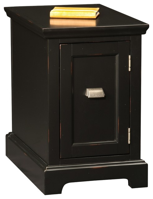 Leick Laurent Black End Table/Printer Stand Cabinet - Contemporary - Dining Tables