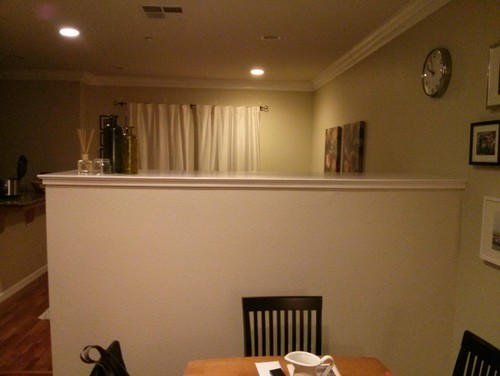 Need Help Decorating The Half Wall In The Living Room