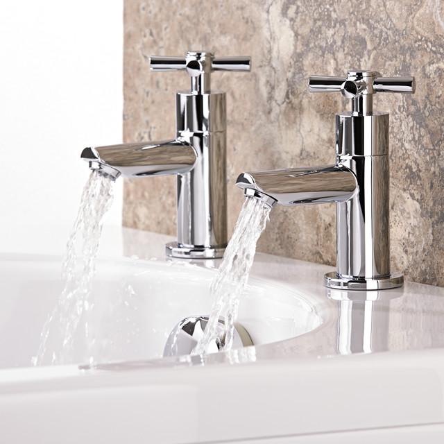 Robinetterie de lavabo contempor neo grifos para - Hudson reed france ...
