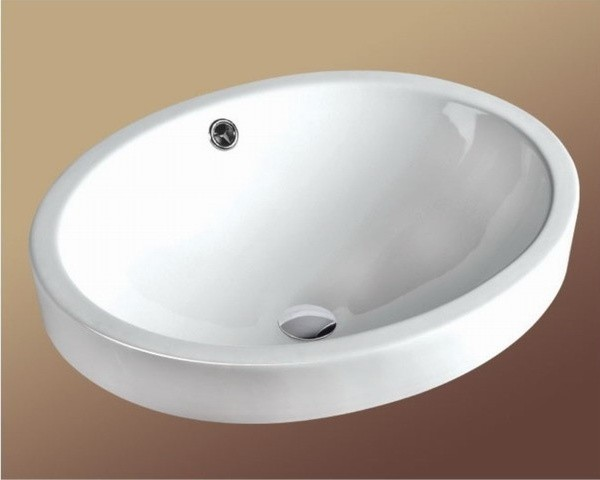 ... Oval Shaped Above Counter Ceramic Basin contemporary-bathroom-sinks
