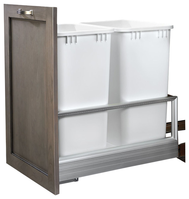 Rev A Shelf Double 50 Quart Pullout Waste Container