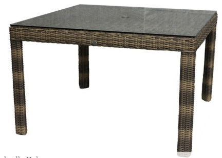 48 Square Dining Table Transitional Garden Dining Patio Table