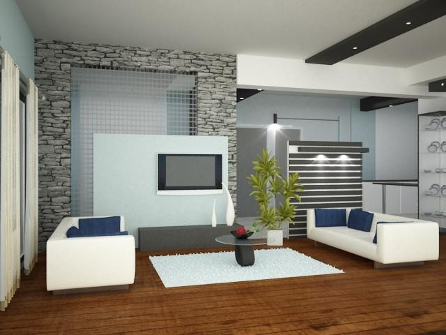 Modern house designs living room interiors by ashwin for Aslam architects interior designs bangalore