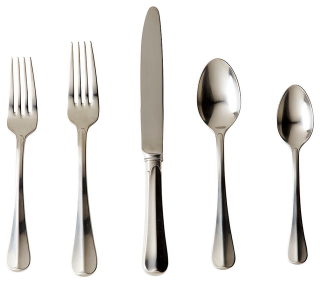 Bistro 5 Piece Flatware Place Setting Transitional Flatware And Silverwar