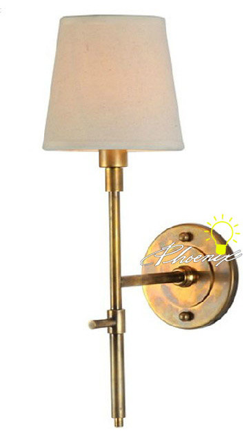 Antique Fabric and Copper Wall Sconce in Brushed Finish - Contemporary - Wall Sconces - new york ...