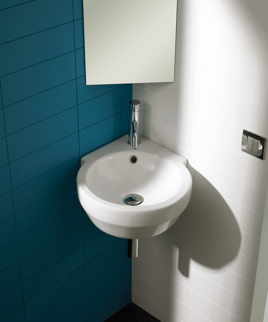 Corner bowl modern bathroom sinks by bissonnet - Small corner bathroom sinks ...