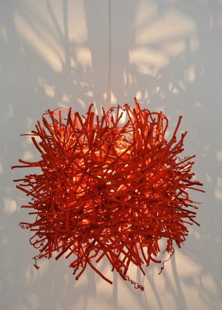 Red Round Roost Lamp Contemporary Pendant Lighting