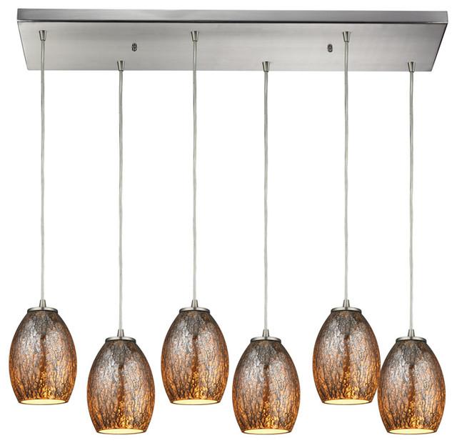 ELK Lighting Venture 6 Light Pendant With Rectangular