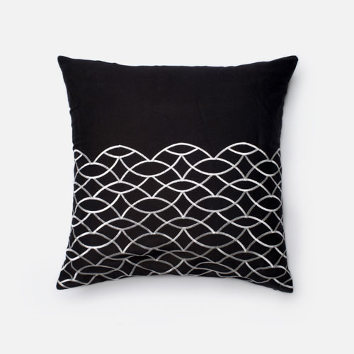 Modern White Pillows : Black and White 22-Inch Decorative Pillow - Modern - Bed Pillows - by Bellacor