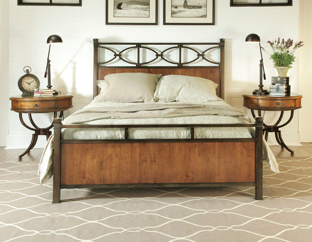 American Drew 204 R95 New River Metal Rails 5 0 6 6 Traditional Beds Atlanta By National