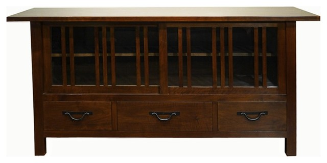 Oak Park TV Cabinet, Dark Walnut - Craftsman - Entertainment Centers And Tv Stands - by Gingko ...