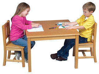 Mission table and chair set modern kids tables amp chairs by