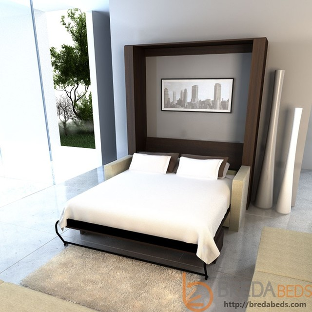 Inline murphy bed and inline sofa contemporary beds boise by bredabeds Murphy bed over couch