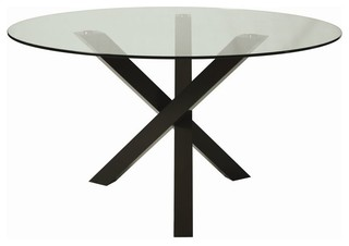 Contemporary dining for 13 inch round glass table top