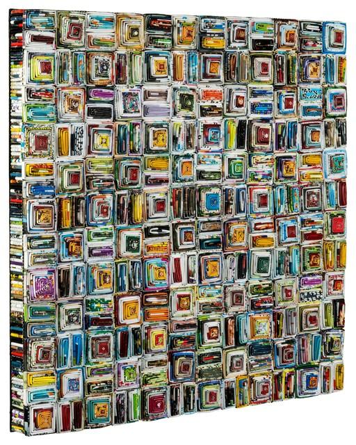 Zamia Wall Hanging Contemporary Mixed Media Art By
